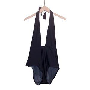 Navy blue Swimsuit halter Medium size